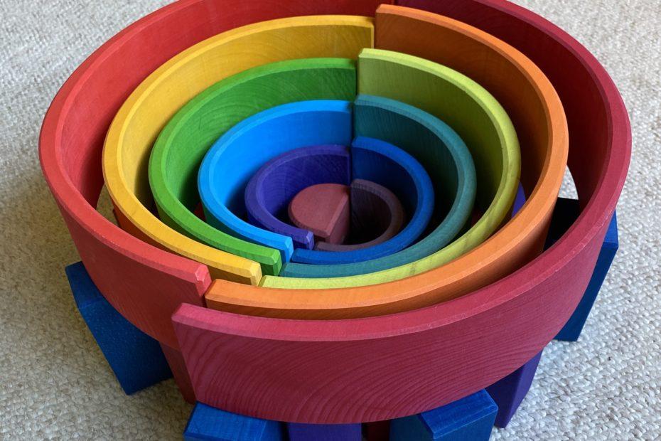 Grimm's rainbow ball run spiral instructions