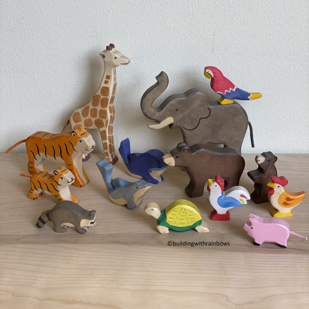 holztiger animals whale elephant racoon baby dolphin turtle tiger pig bear