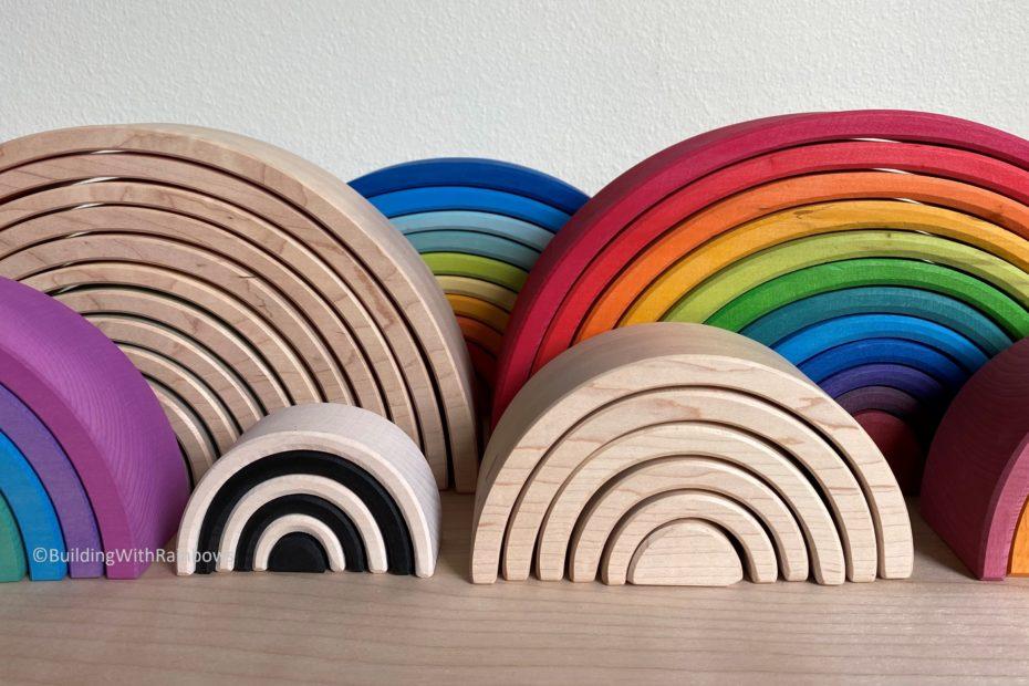 wooden rainbows, grimm's ocamora, myers