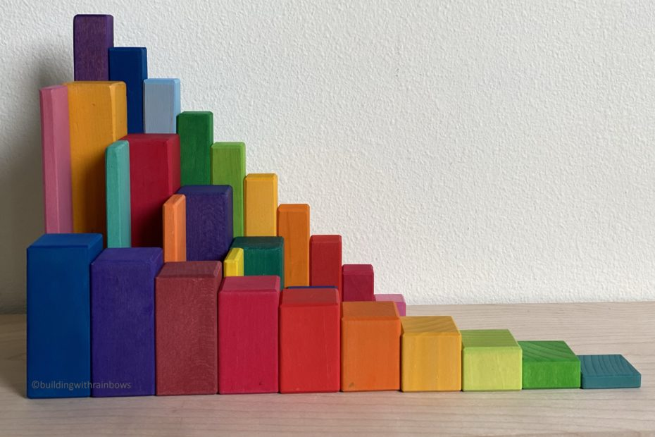 compare grimms and gluckskafer and bauspiel stepped blocks