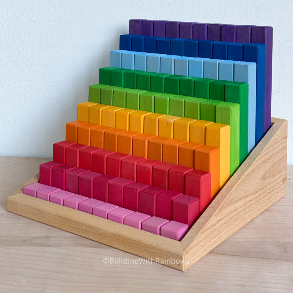 Bauspiel stepped counting and building blocks