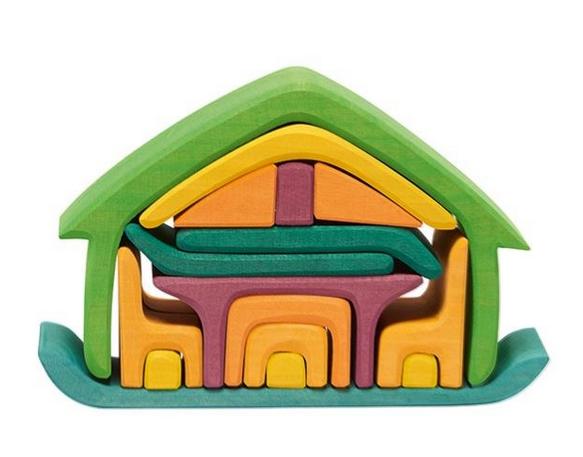 gluckskafer stacking house in green