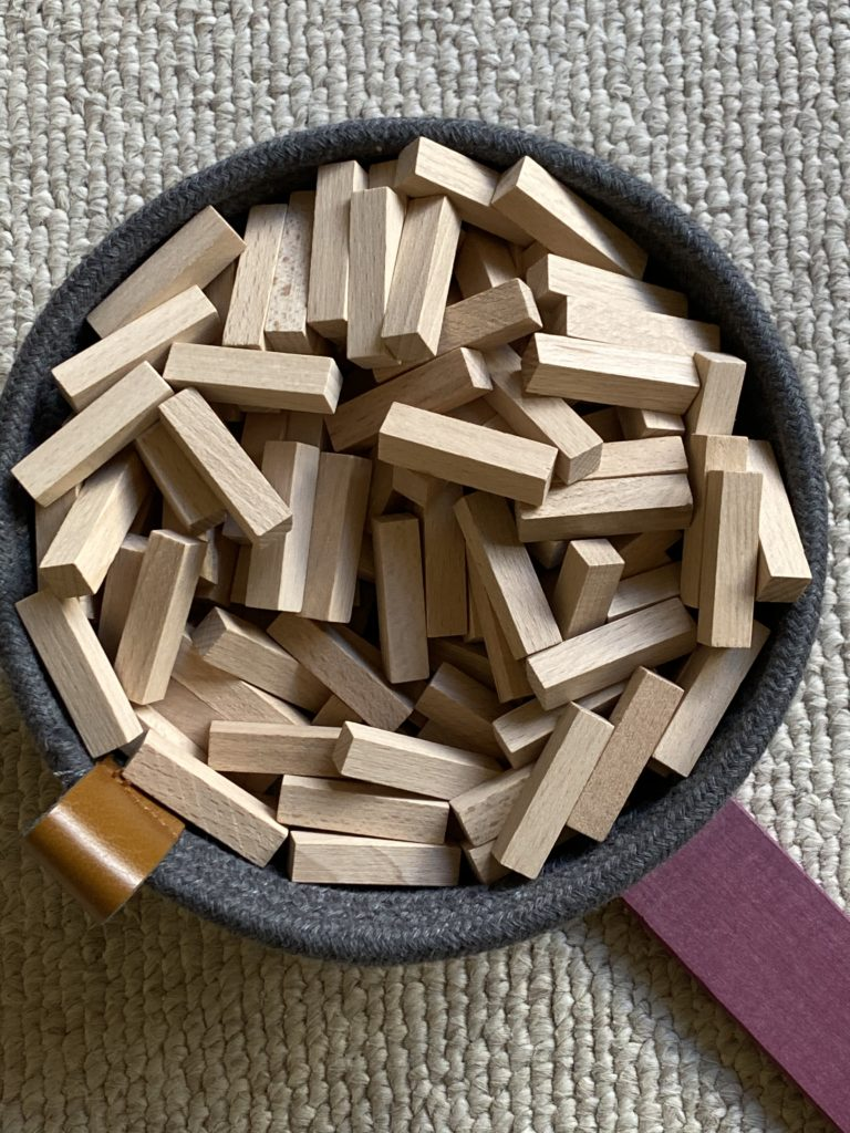 Just Blocks Sticks in a Maple and Lark Basket